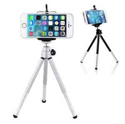 Smartphone on tripod