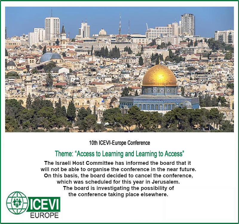 10th ICEVI-Europe Conference