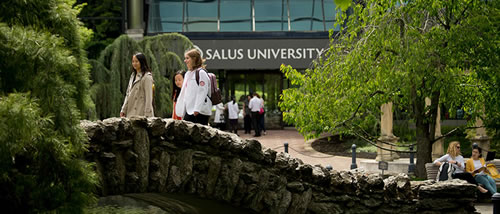 Salus University with students