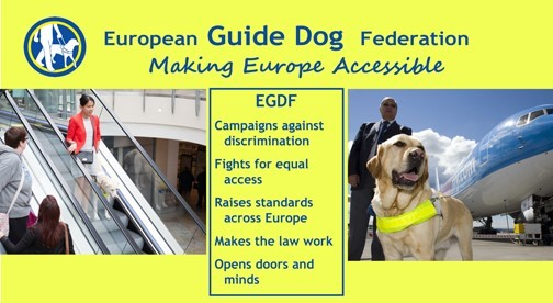 European Guide Dog Federation - Making Europe Accessible banner