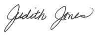 Judith Jones signature