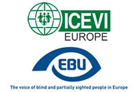 European Blind Union and ICEVI-Europe logos